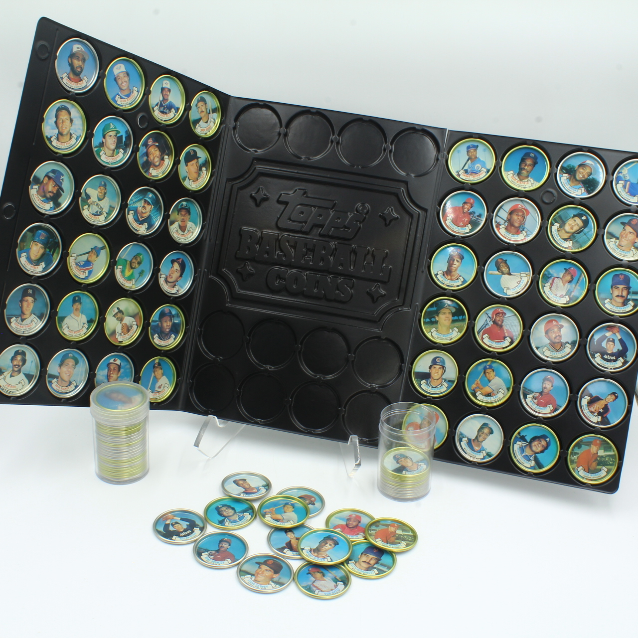 C. 1980s-90s Topps Coin Case, Appx 96 Coins