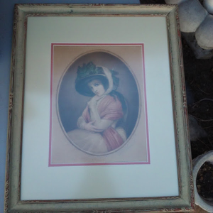 Lithograph, Georgian Painting of A Lady