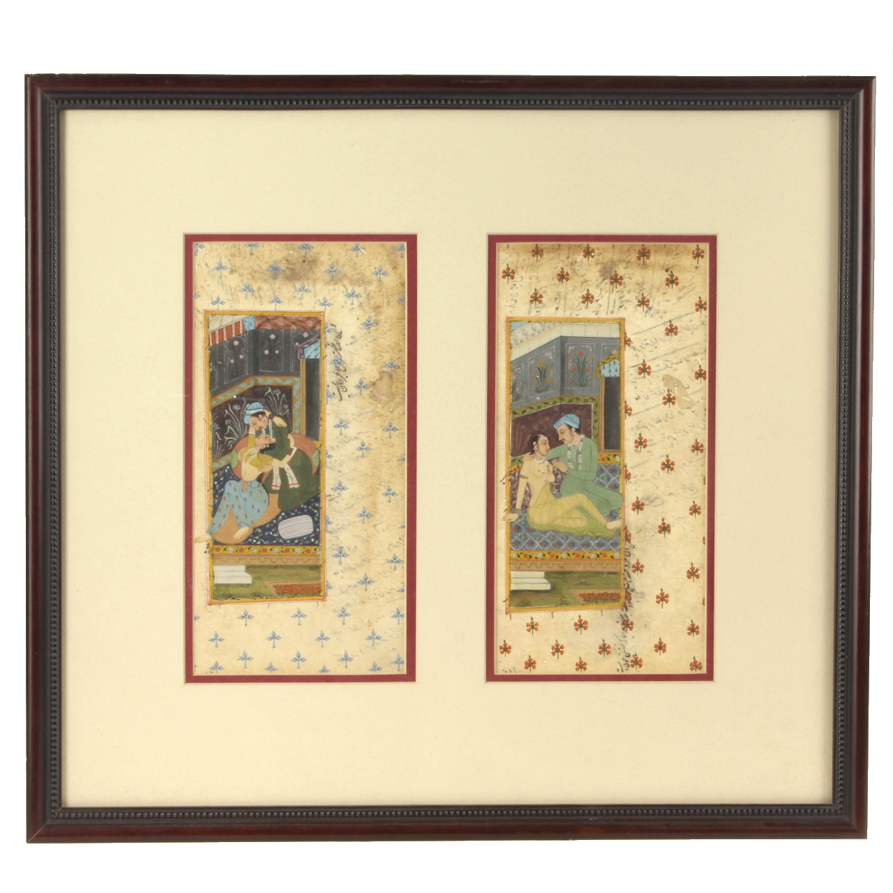 Goodlife Auctions Lot 1607 19th C Mughal Erotic