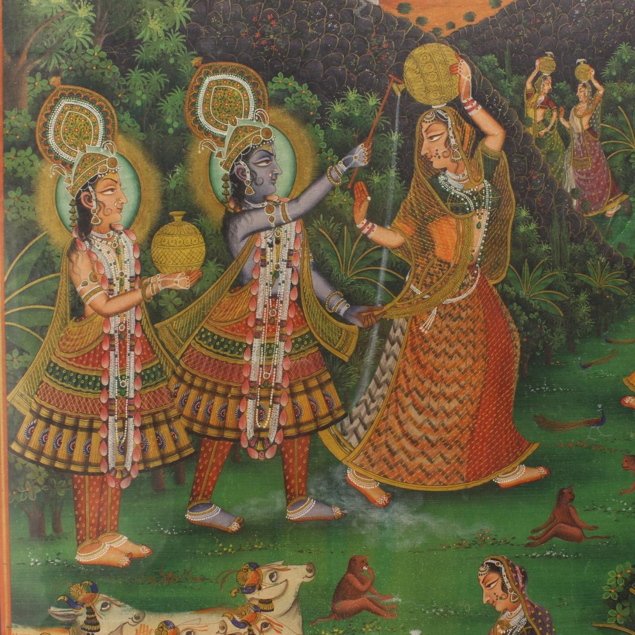 Goodlife Auctions Lot 1635 19th C Indian Pichhavai