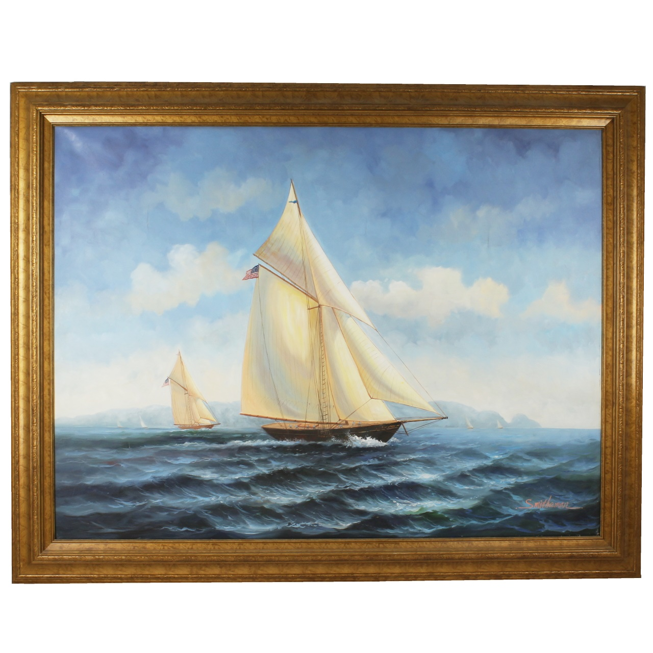 goodlife auctions lot 1659 s francis smitheman oil painting of