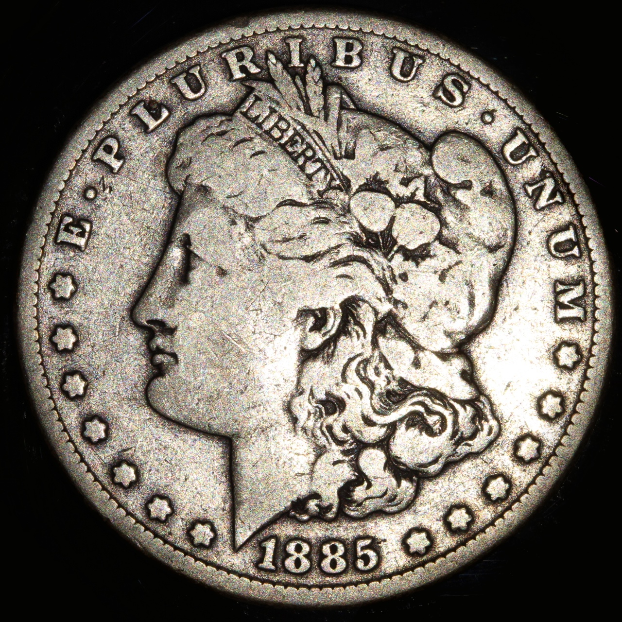 1885 Morgan 1 Dollar, F-16
