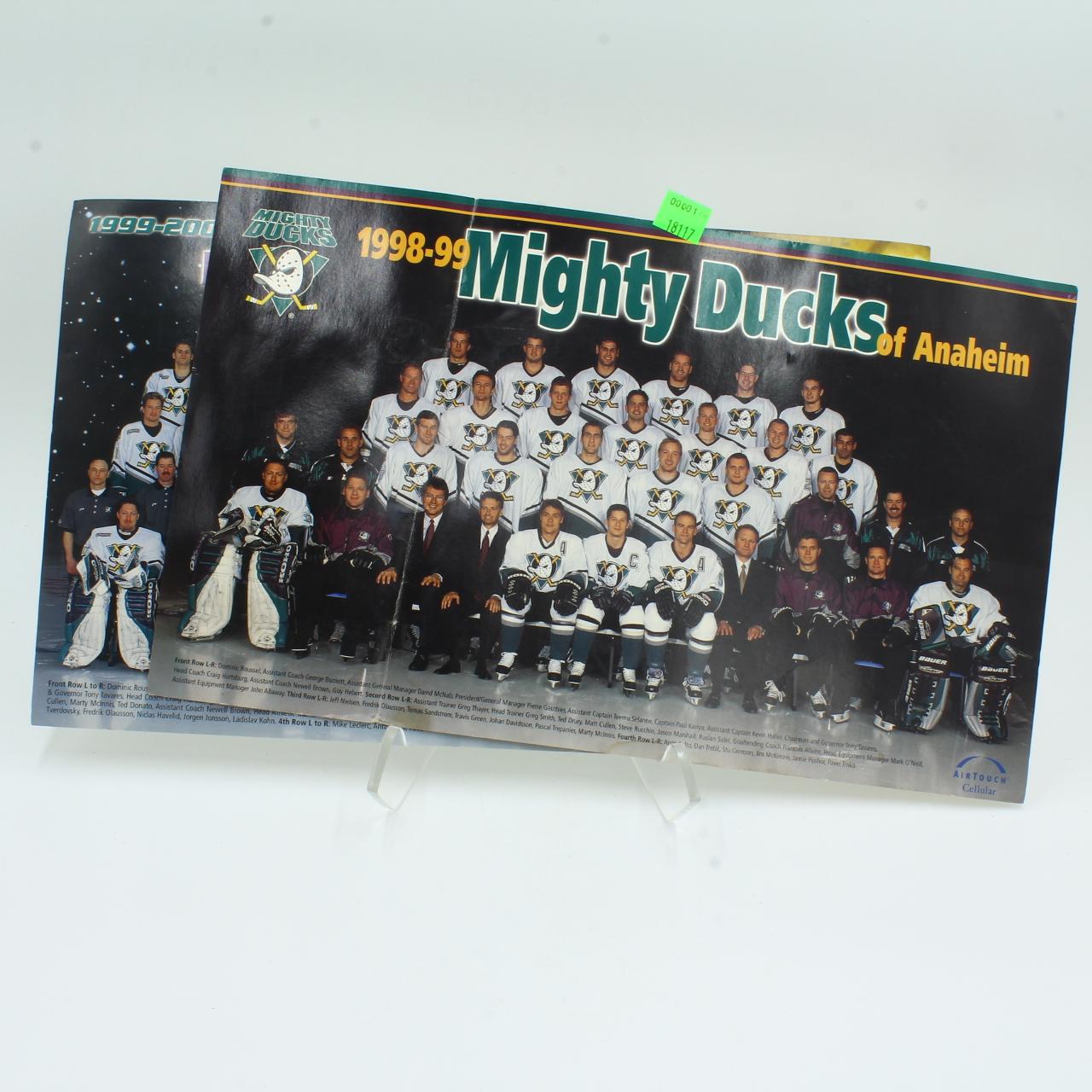 Anaheim Ducks Team Photos 1998-2000 Seasons