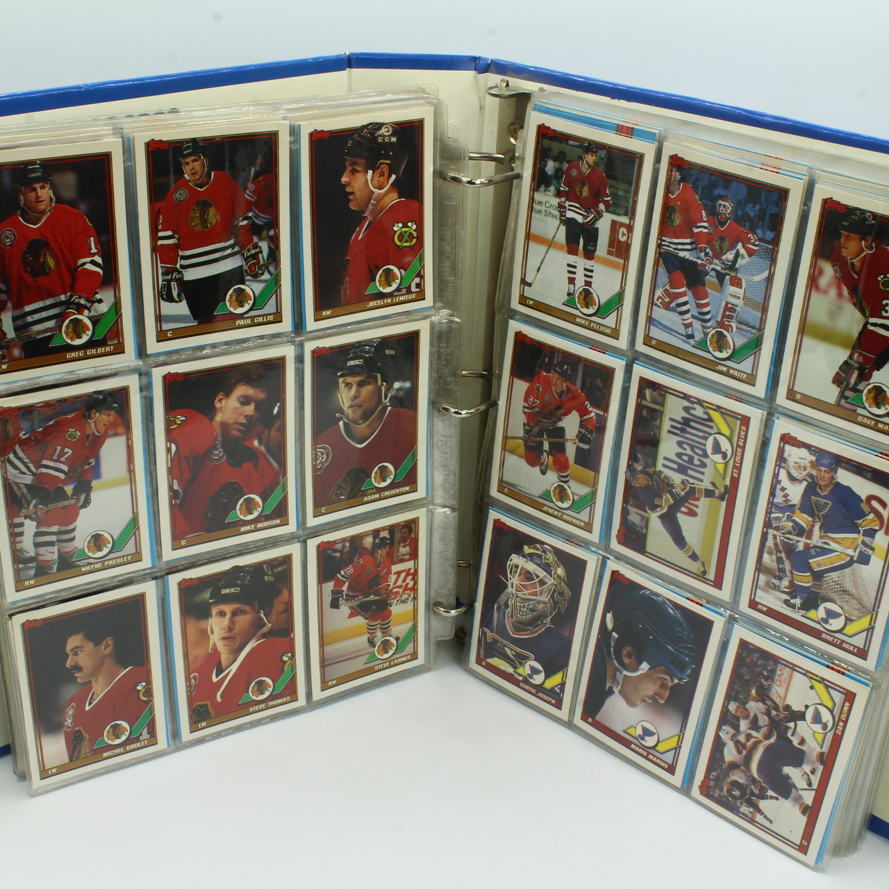 Cards, 1991 Topps NHL Hockey Album Appx 500 Cards