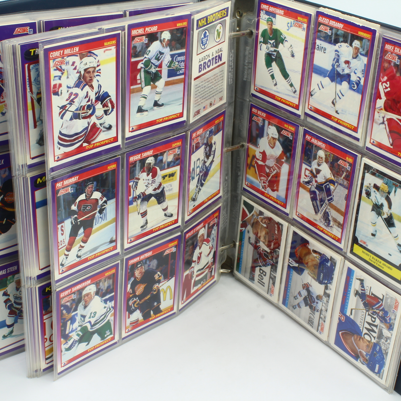 Cards, 1991 Score NHL Album, Appx 400 Cards