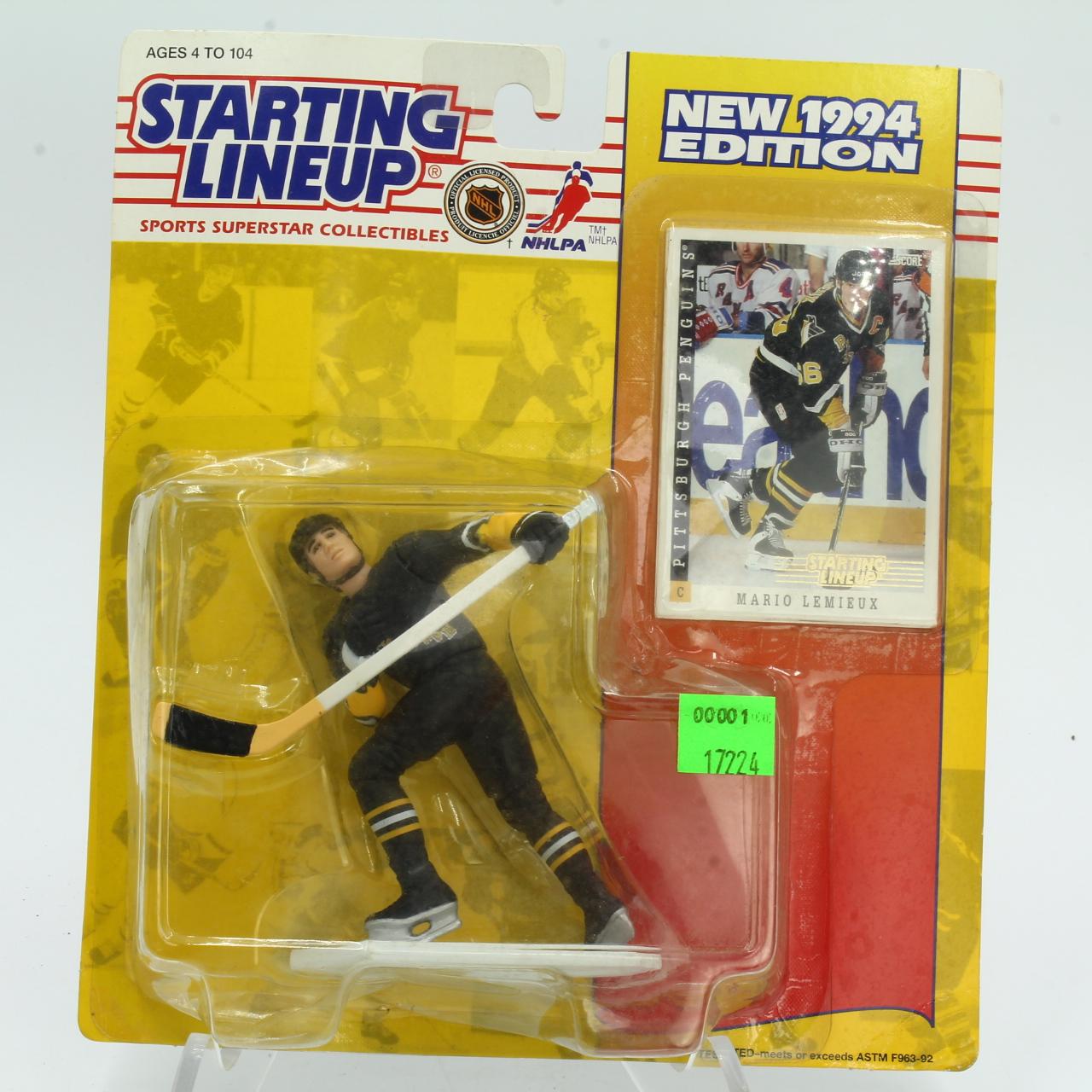 Card+Figure, 1994 NHL Starting Lineup, Mario Lemieux Figure