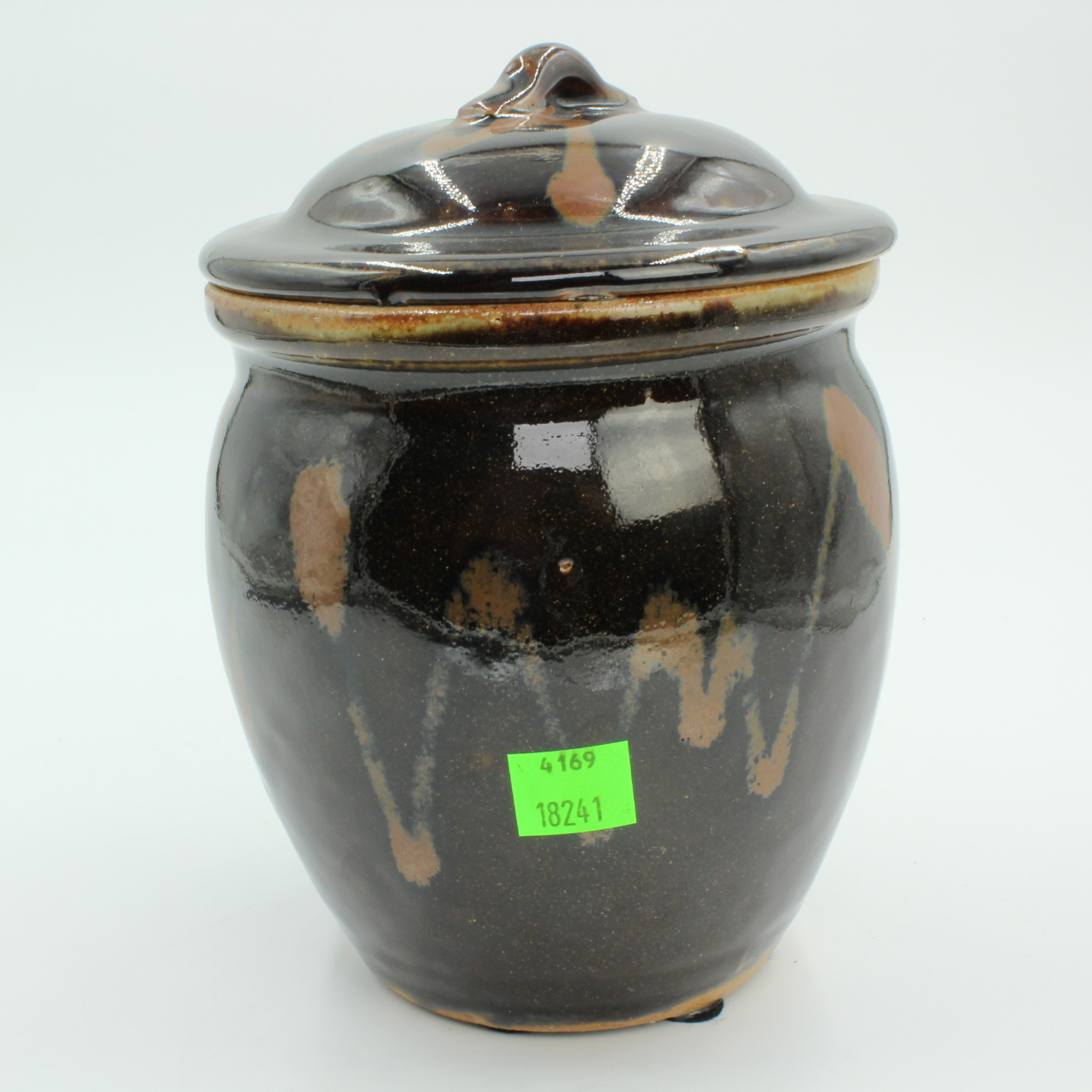 Vintage Japanese Jar, Art Pottery Tea Jar