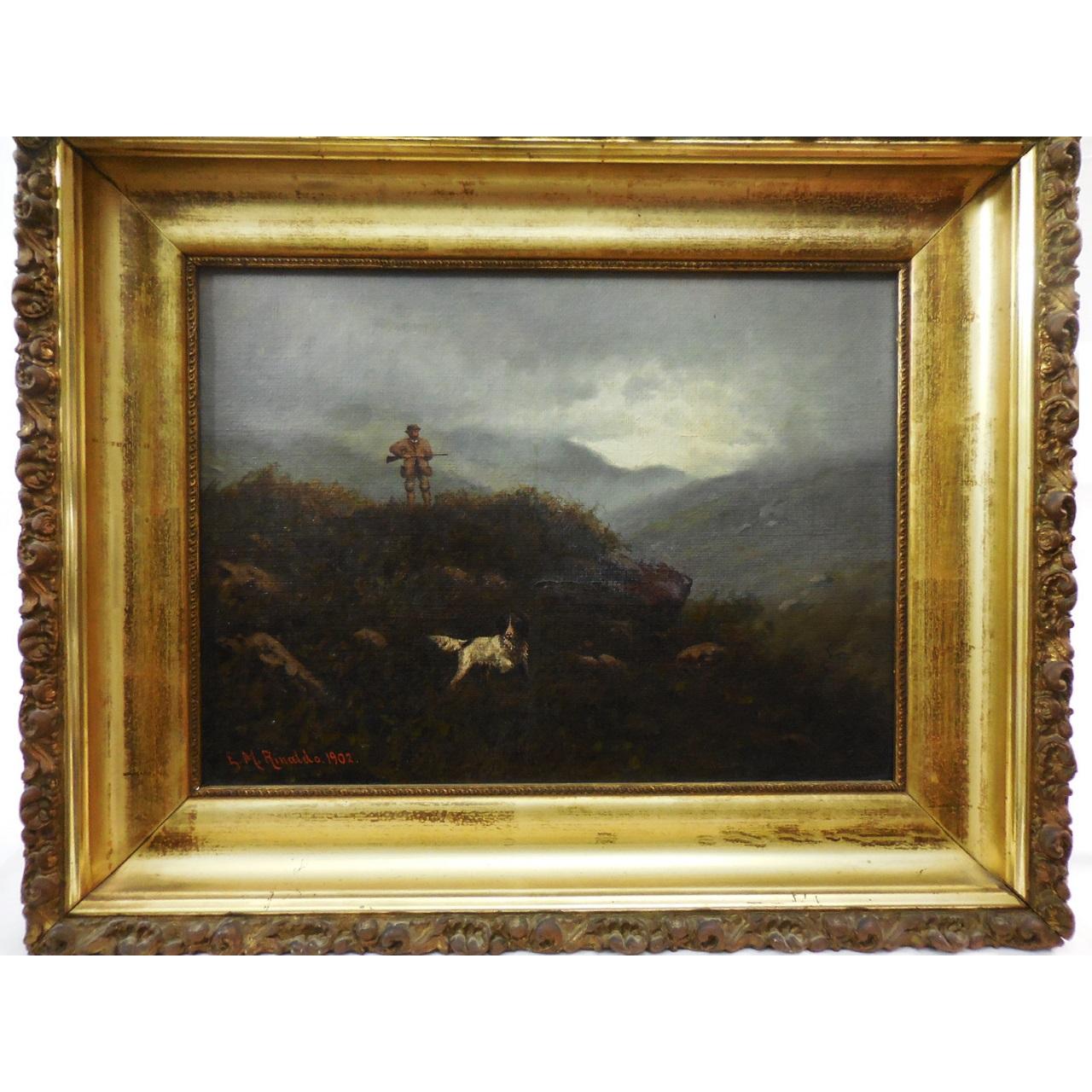 C. 1902 E.M. Rinaldo Oil on Canvas