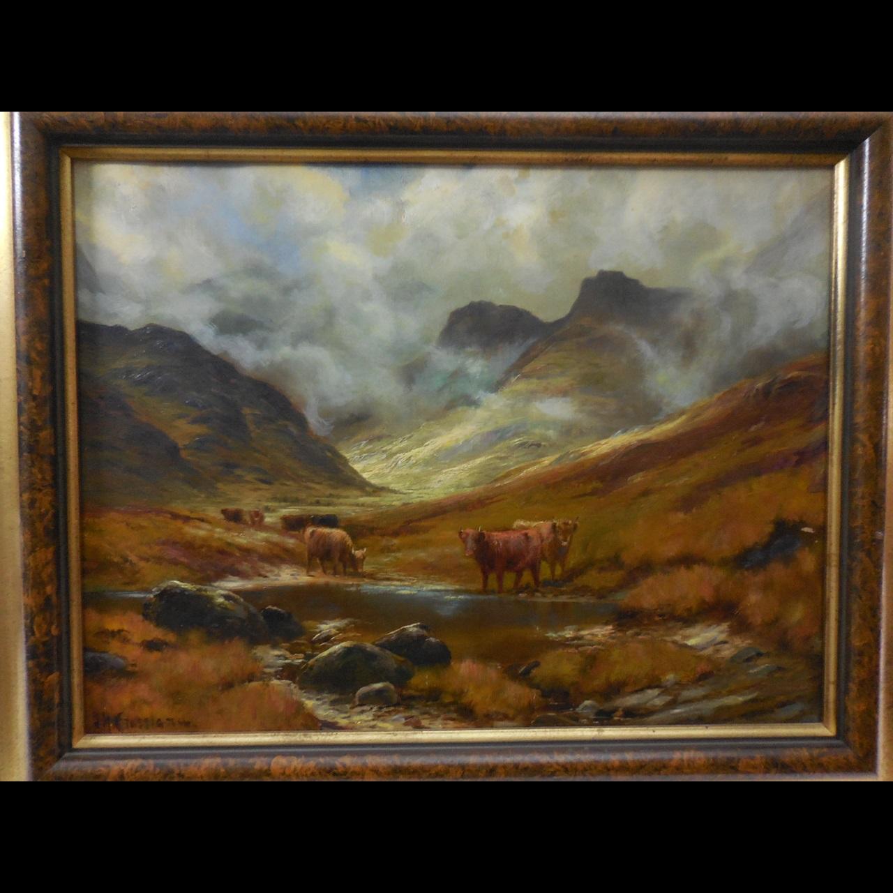 C. 1914 James Henry Crossland Oil on Canvas