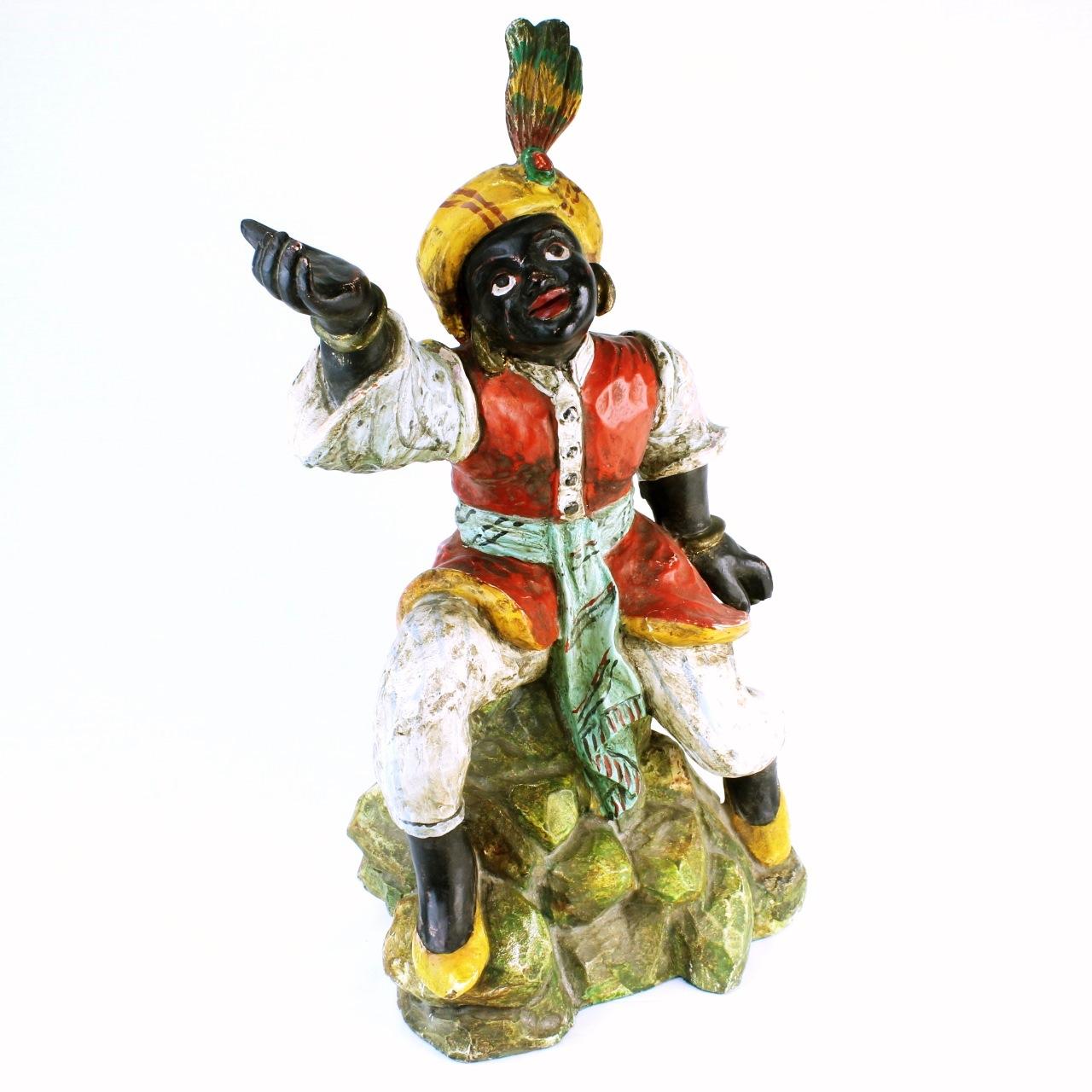 Vintage Chalkware Statue Of A Genie